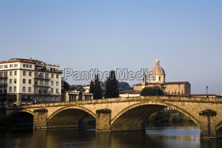 florence cityscape with bridge italy