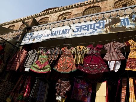 clothes display at market jaipur india