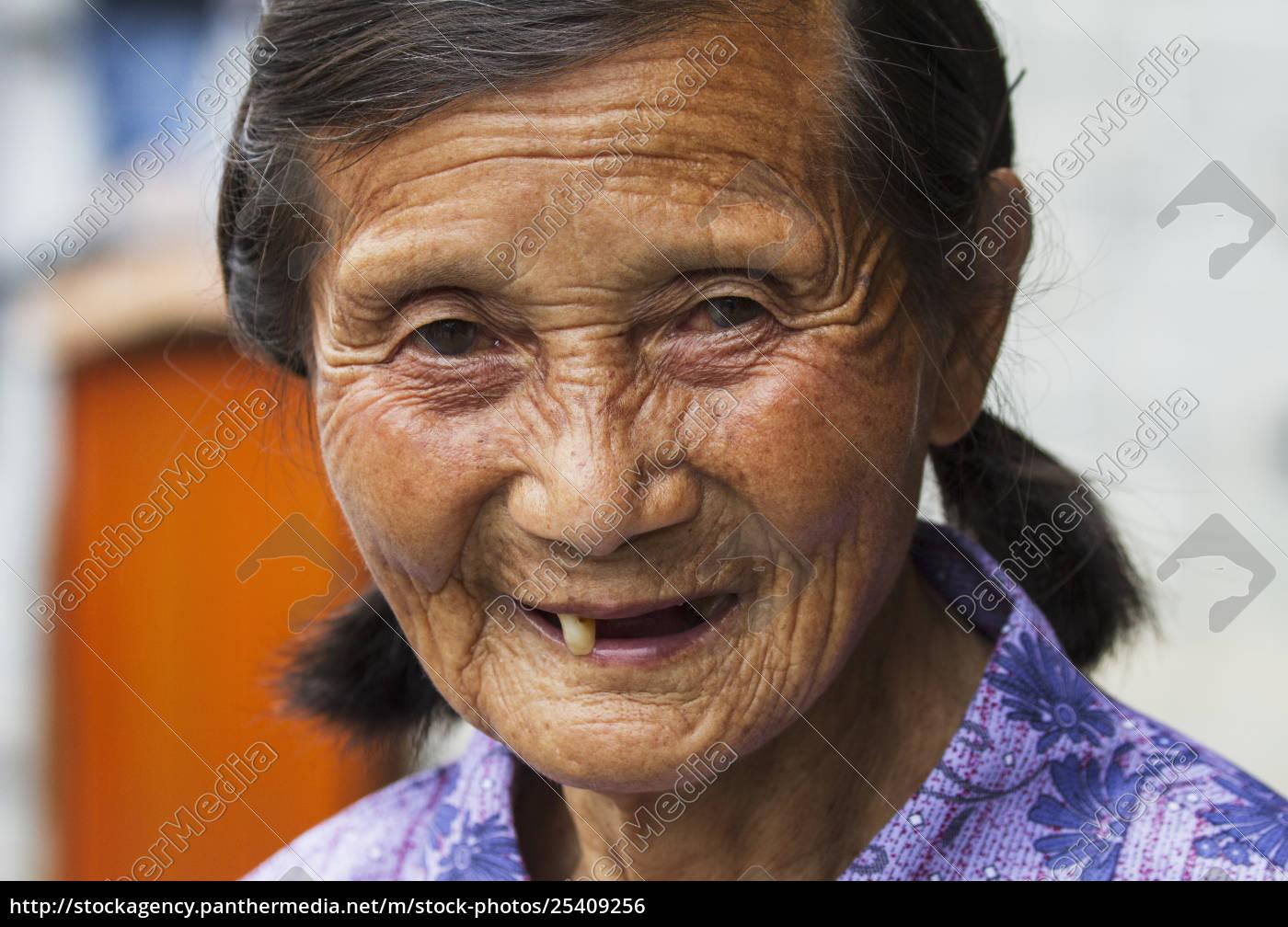 old, chinese, woman, , xidi, , anhui, , china - 25409256