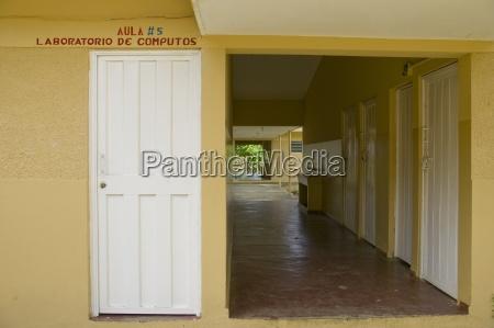 view down a school corridor dominican