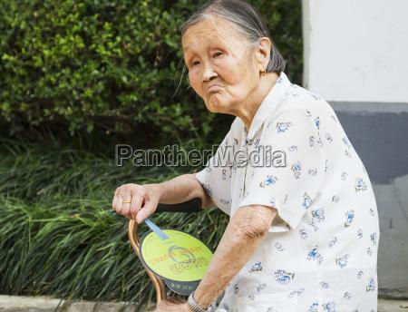 old chinese woman suzhou jiangsu china
