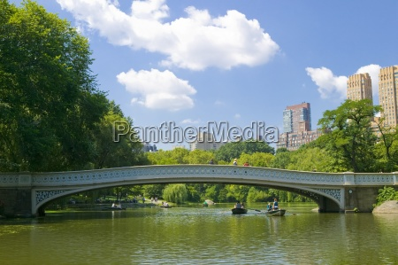 bow bridge and boats in central