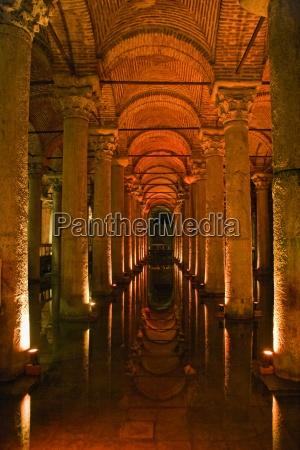 basilica cistern istanbul turkey ancient underground
