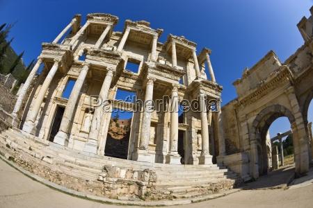 library of celsus ephesus turkey ancient