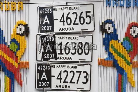 aruban number plates oranjestad island of