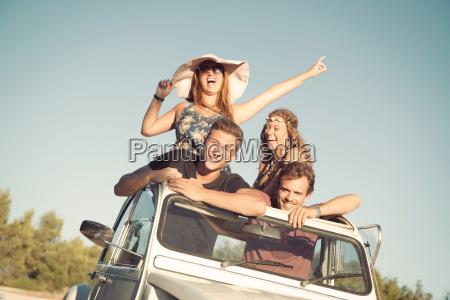 friends, in, a, car - 25412820