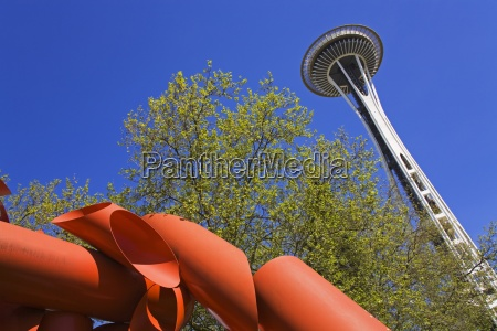 space needle and olympic iliad by