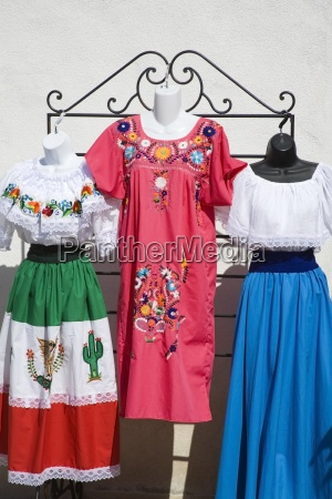 mexican clothes in market old town