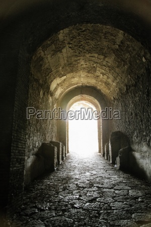 historic italian ruins aftermath of volcanic