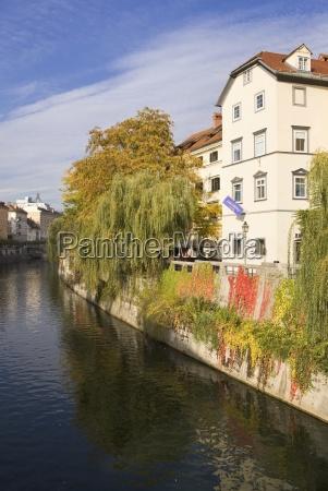 canal running through a city