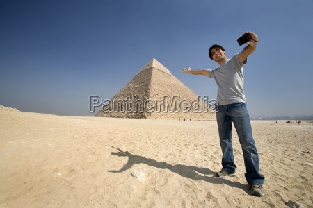 man taking a picture of himself