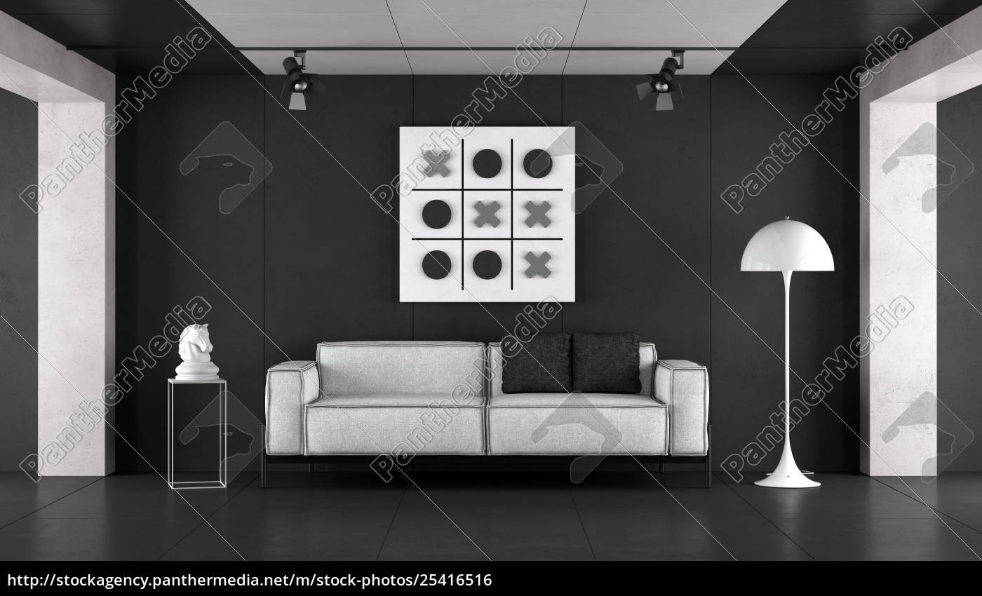 Royalty free photo 25416516 - Minimalist black and white living room