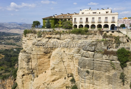 hotel on scenic clifftop andalusia spain