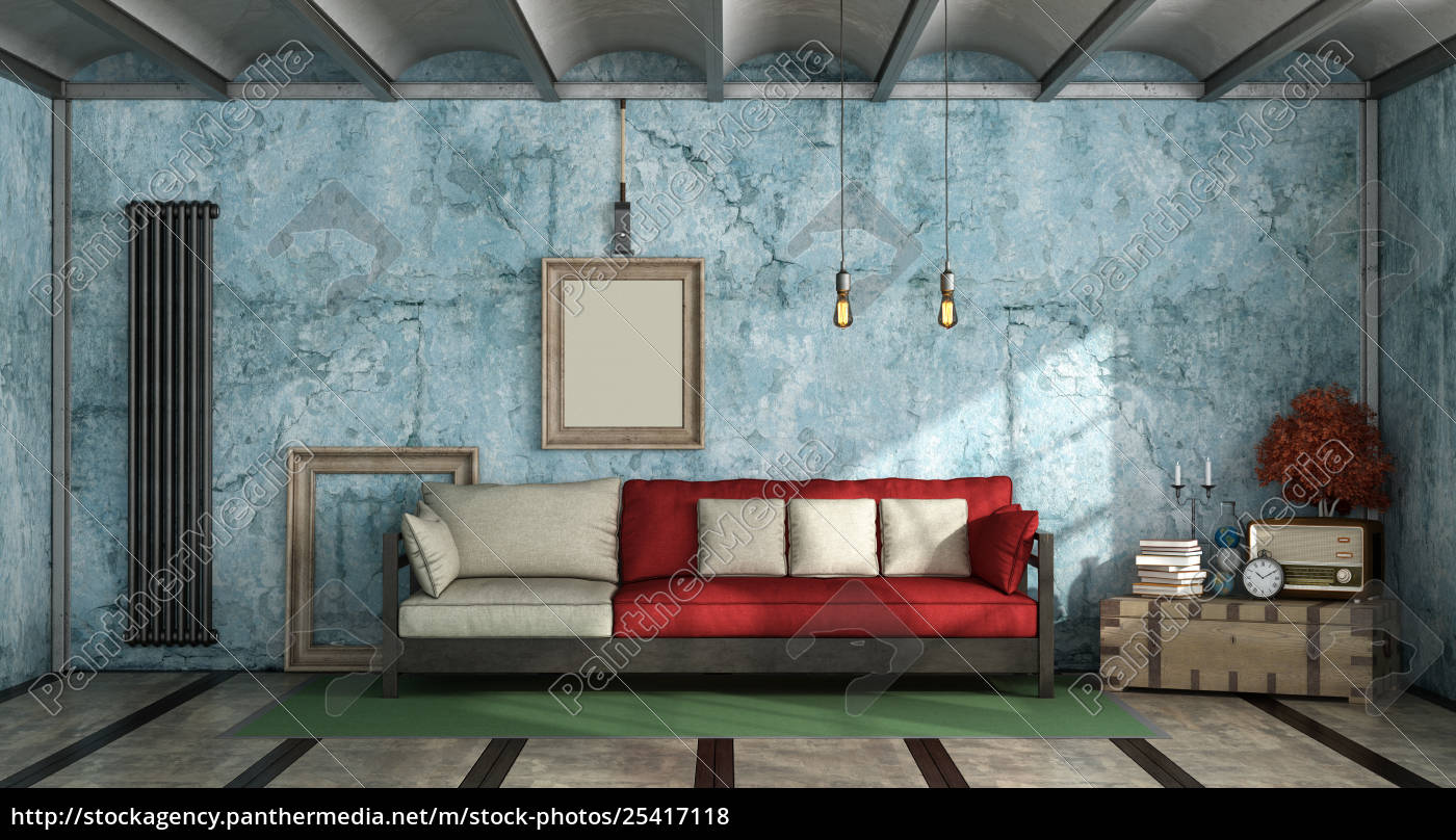 living, room, in, industrial, style - 25417118