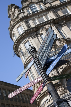 street, signs;, northumberland, , england - 25417922