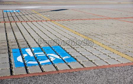handicapped parking spot transportation infrastructure