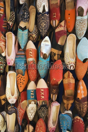 shoes on display in a shop