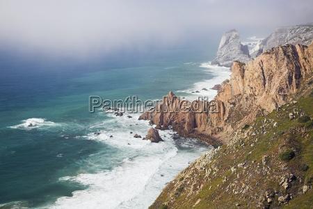 cliff and seascape of cape roca