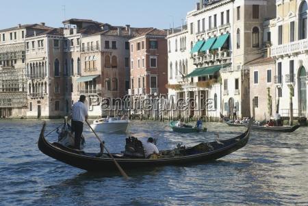 gondola on canal venice italy