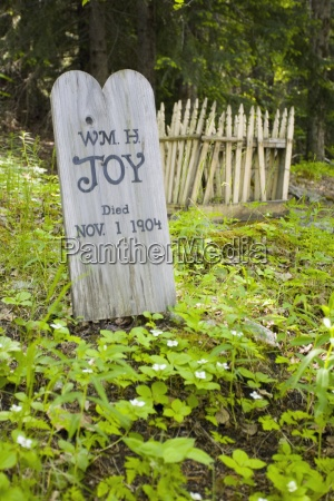 gold rush cemetery skagway alaska usa