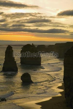 sunset on the ocean victoria australia