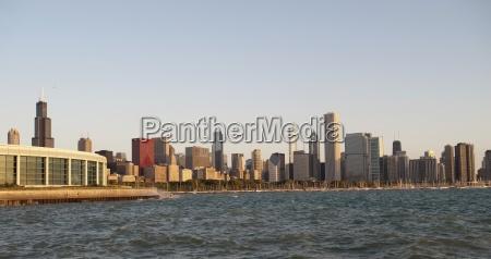 skyline of chicago illinois usa