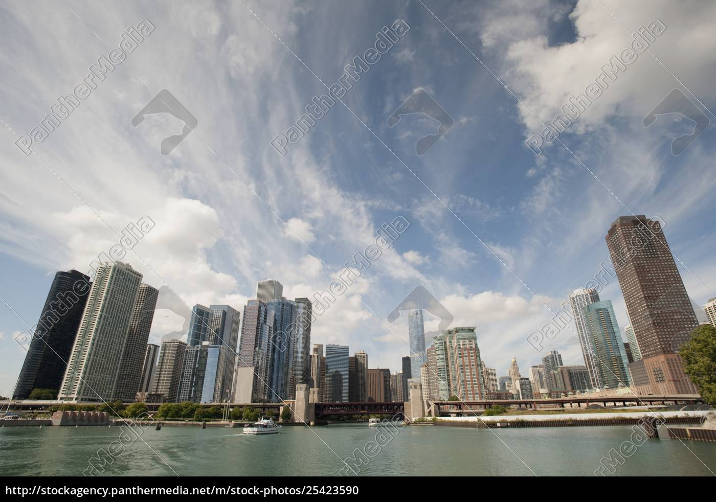 chicago, skyline, , chicago, , illinois, , usa;, chicago, - 25423590