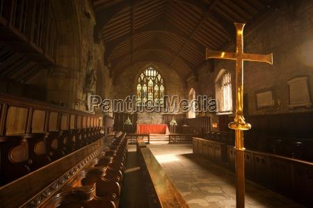 guisborough england interior of chapel