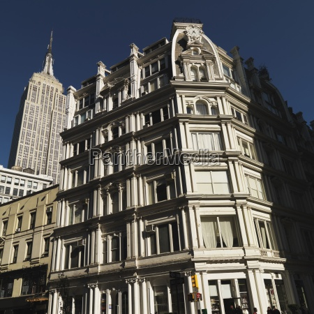 building facade with empire state building