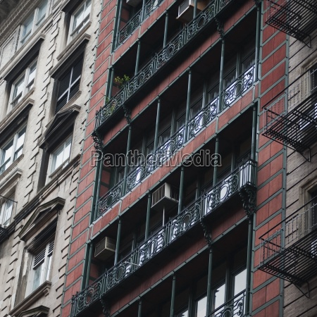 building exterior in soho area of