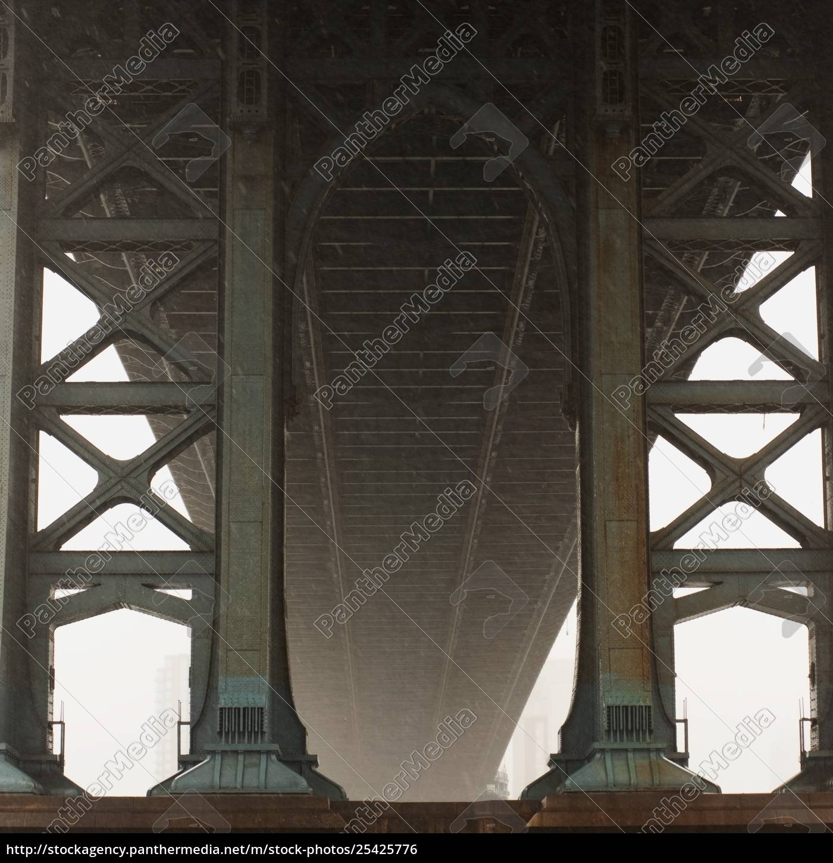 underneath, manhattan, bridge, , new, york, city; - 25425776