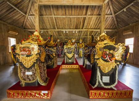 barong dance masks and costumes from