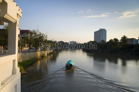 chiang mai thailand a boat traveling