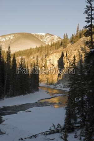 bragg creek alberta canada a winter