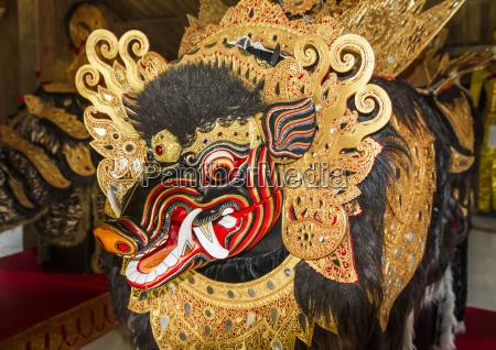 balinese barong bangkai dance mask and