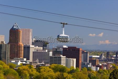 portland aerial ohsu tram portland oregon