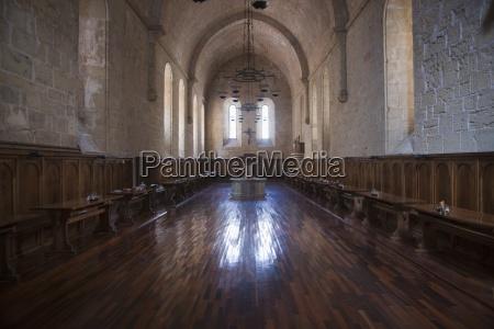 hallway in poblet monastery poblet spain