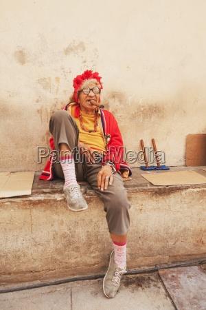 local cuban character smoking a cigar