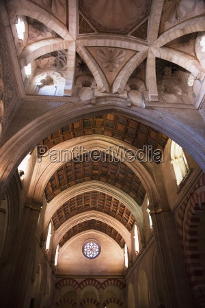 wooden ceiling in the cathedral of