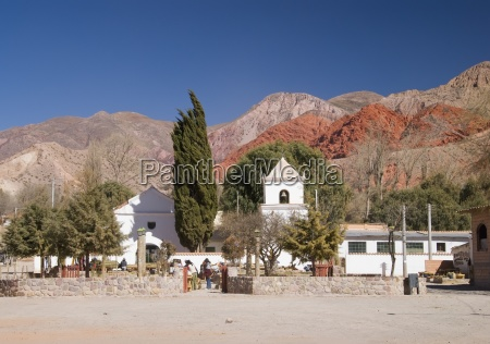small church in the colorful hills