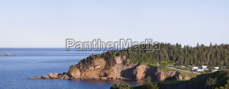 rv campground surrounded by the gaspe