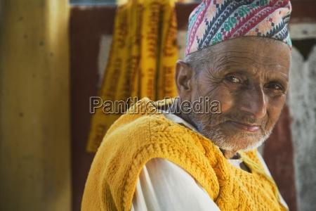 elderly hindu man pokhara nepal