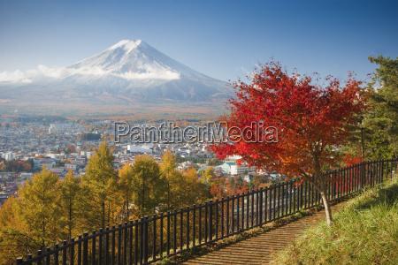 view of mount fuji and fujiyoshida