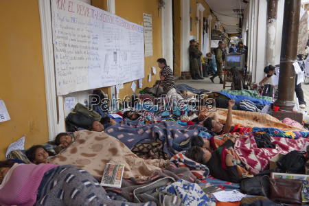 students staging a hunger strike in