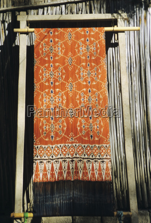 indonesia ikat weaving in village sumba