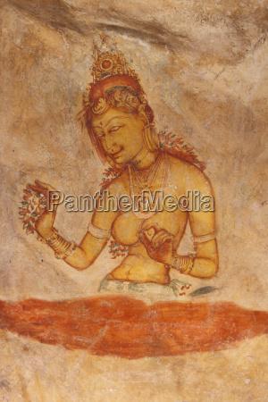sri lanka ancient painting on cave