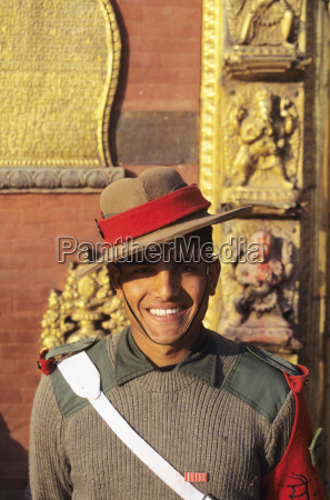 nepal bhaktapur durbar square headshot of