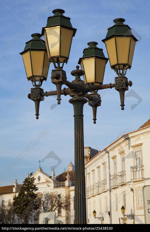 Rights Managed Image 25438530 A Decorative Street Light Faro Algarve Portugal