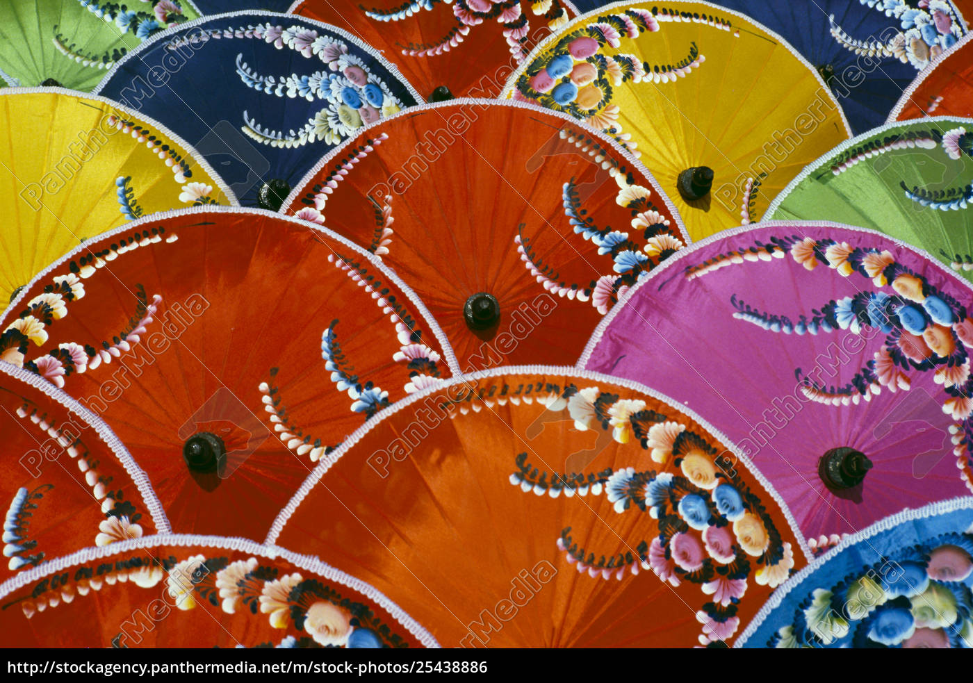 thailand, , silk, umbrella, factory, , close-up, of - 25438886
