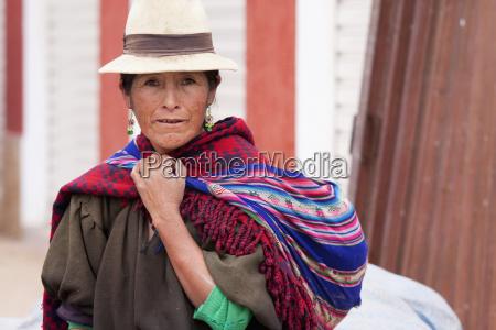 quechua woman sucre chuquisaca department bolivia